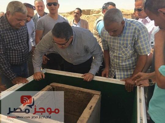 وزارة الاثار .. بالصور اكتشاف مقبرة فرعونية بمنطقة اثار دهشور
