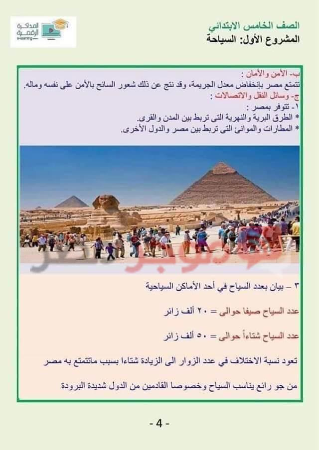 Search for tourism for the fifth grade of primary 4