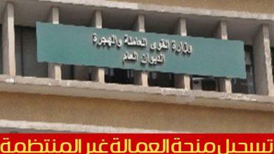 Photo of وزارة القوى العاملة www manpower gov eg استمارة تسجيل بيانات العمالة غير المنتظمة