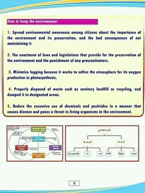 مشروع بحث البيئة