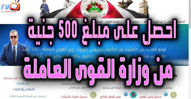 وزارة القوى العاملة (تسجيل العمالة الغير منتظمة) www.manpower.gov.eg