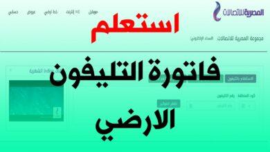 Photo of فاتورة التليفون الأرضي عبر موقع المصرية للاتصالات اغسطس 2020