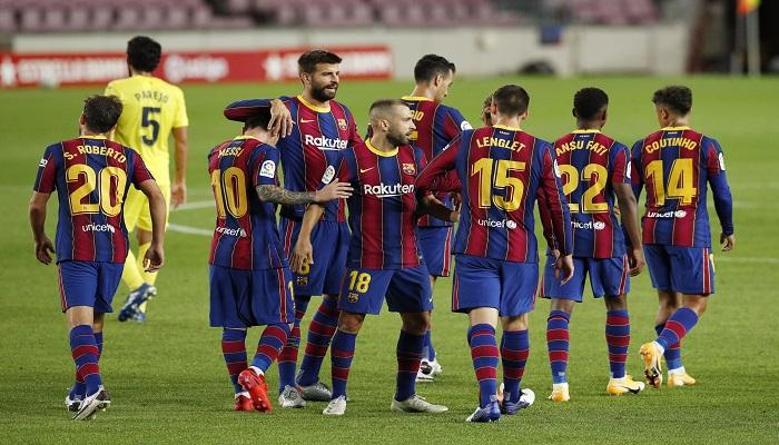 برشلونة يفوز على فياريال 4-0 فى الدوري الاسباني الليجا