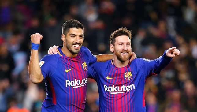 لويس سواريز عن ميسي سيستمر مع برشلونة في حالة واحدة