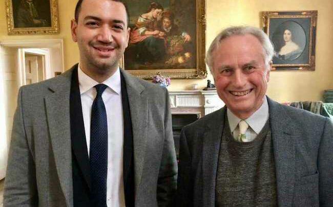 معز مسعود مع أشهر الملحدين في العالم ريتشارد دوكينز
