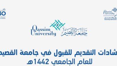 Photo of نسب القبول بجامعة القصيم 1442 والنسبة المرجحة للقبول بالجامعات
