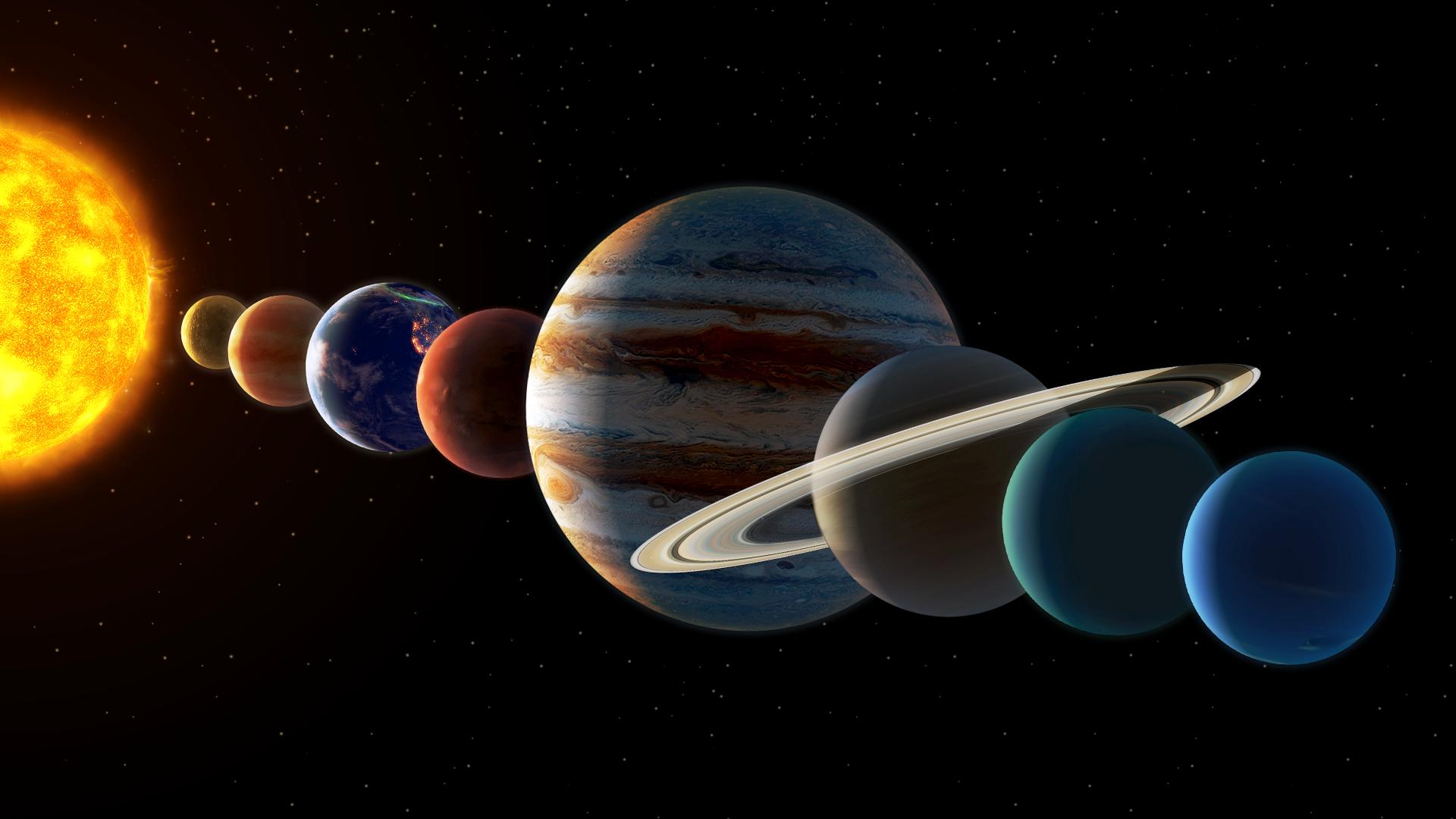 ترتيب الكواكب حسب بعدها عن الشمس من حيث الأقرب أو الأبعد
