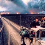 اثار التلوث الذي حدث في الكويت سنه 1990