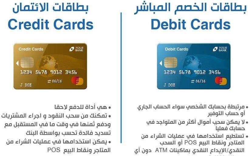 بطاقة الخصم المباشر من بنك QNB والبنك الأهلي وبنك مصر والقاهرة Banque du Caire