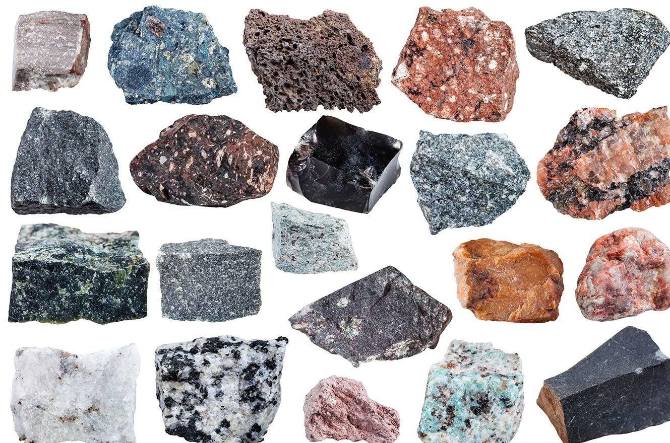 تعرف على أنواع الصخور النارية السطحية والجوفية والبركانية igneous rocks