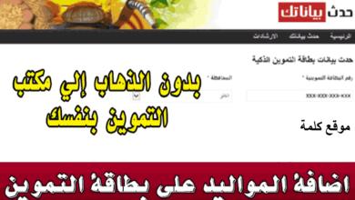 Photo of خطوات إضافة المواليد لبطاقة التموين 2020 بالرقم القومي عبر موقع دعم مصر