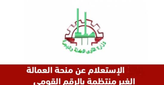 رابط استعلام البحث عن منحة العمالة الغير منتظمة mom.manpower.gov.eg رابط وزارة القوى العاملة المصرية