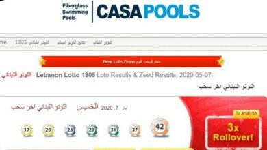 نتائج سحب اللوتو اللبناني إصدار 69 اليوم وما هي البطاقات الرابحة في السحب