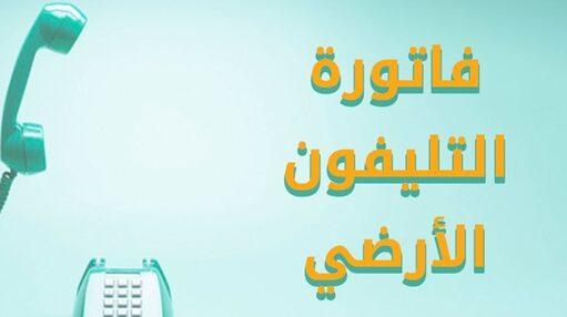 فاتورة التليفون الأرضي لشهر يناير 2021 موقع الشركة المصرية للإتصالات