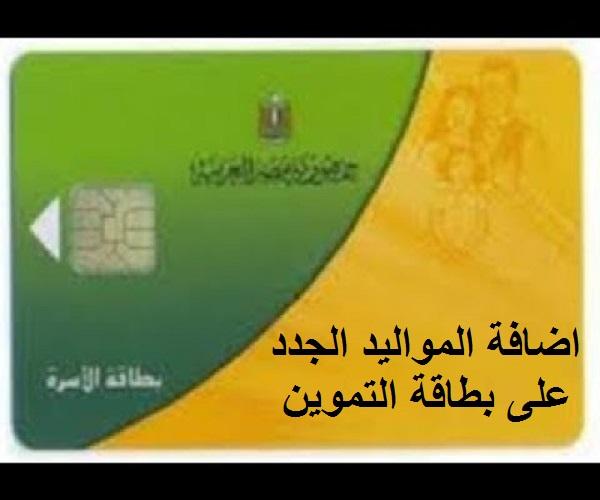 رابط إضافة المواليد الجدد 2021 علي بطاقة التموين بالرقم القومي عبر موقع دعم مصر
