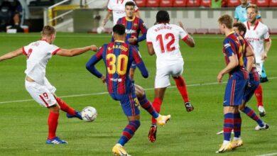 تعرف على القنوات الناقلة لمباراة برشلونة وإشبيلية القادمة في نصف نهائي كأس ملك إسبانيا