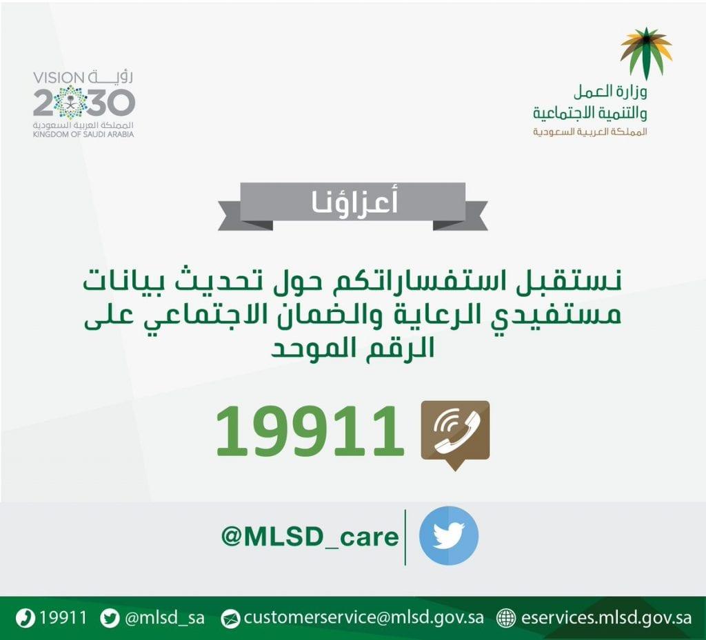 رقم الضمان الاجتماعي الموحد المجاني 1442