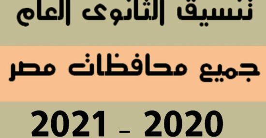 مؤشرات تنسيق قبول الثانوية العامة 2021 للطلاب الناجحين في الشهادة الاعدادية جميع محافظات مصر بالدرجات