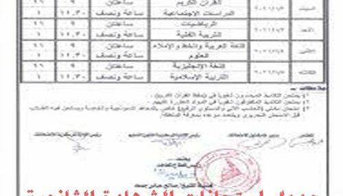 جدول امتحانات الشهادة الثانوية السودانية 2021 ومواعيد آداء الامتحانات