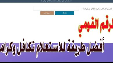 Photo of استعلام بالرقم القومي تكافل وكرامة 2021 وزارة التضامن الاجتماعي tk.moss.gov.eg