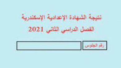 Photo of البوابة الالكترونية لمحافظة الاسكندرية نتيجة الشهادة الاعدادية 2021 نتيجة الصف الثالث الإعدادي بالاسم ورقم الجلوس