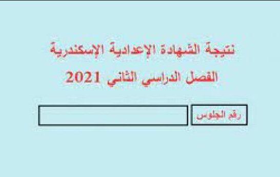 اعلان نتيجة الشهادة الاعدادية محافظة الاسكندرية البوابة الالكترونية