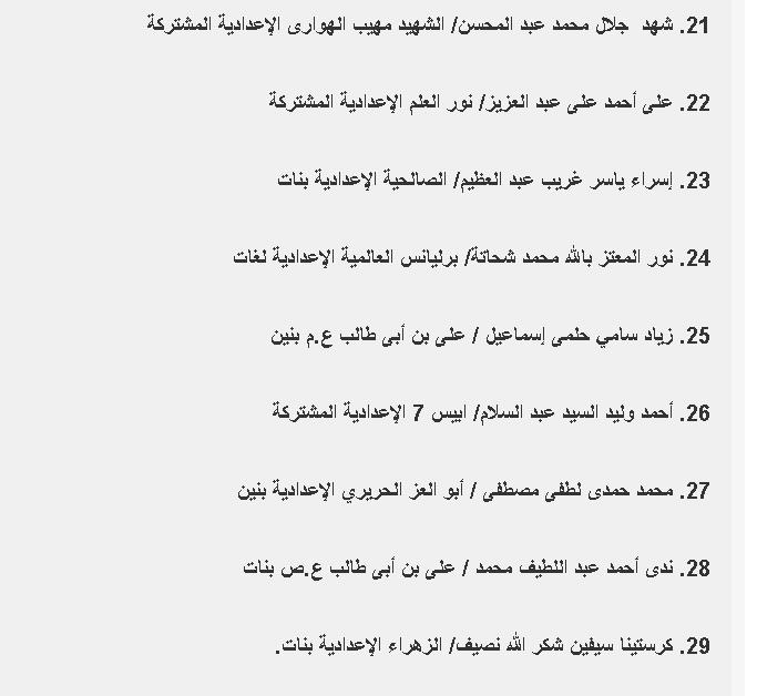 السؤال الأول - موجز مصر