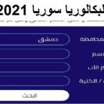 رابط نتائج البكالوريا 2021 سوريا الاستعلام عن نتيجة التاسع الاساسي عبر موقع moed.gov.sy