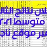 ملف إكسيل موقع ناجح استخراج نتائج الثالث متوسط 2021 بغداد