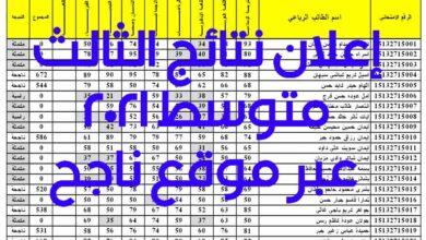 Photo of ملف إكسيل موقع ناجح استخراج نتائج الثالث متوسط 2021 بغداد